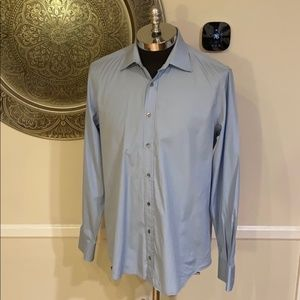 GUCCI blue long sleeve 'fitted' button down